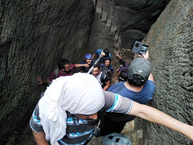 steps in kothaligad fort