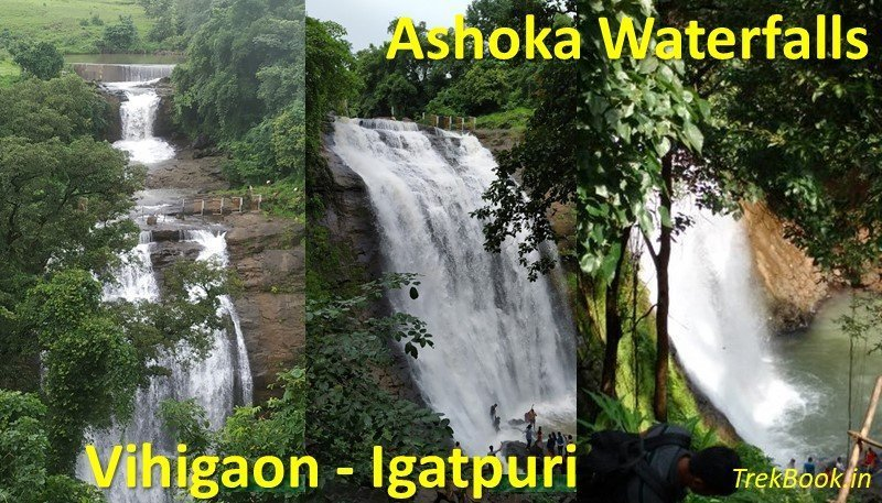 Ashoka Waterfalls Vihigaon Kasara Ghat Igatpuri waterfalls near mumbai