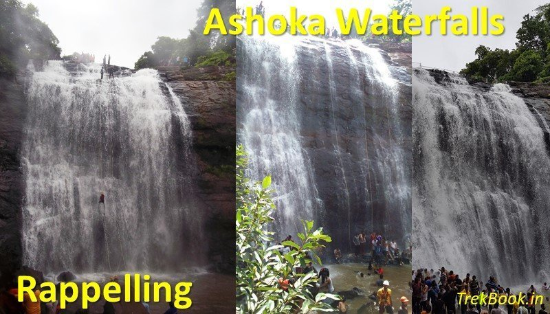 Ashoka Waterfalls rappeling adventure monsoon near mumbai