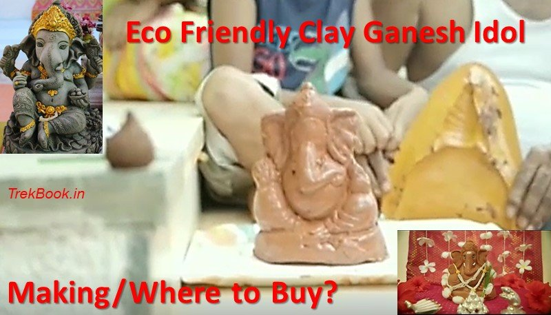 Eco Friendly Clay Ganesh Idol - Making and Where to Buy?